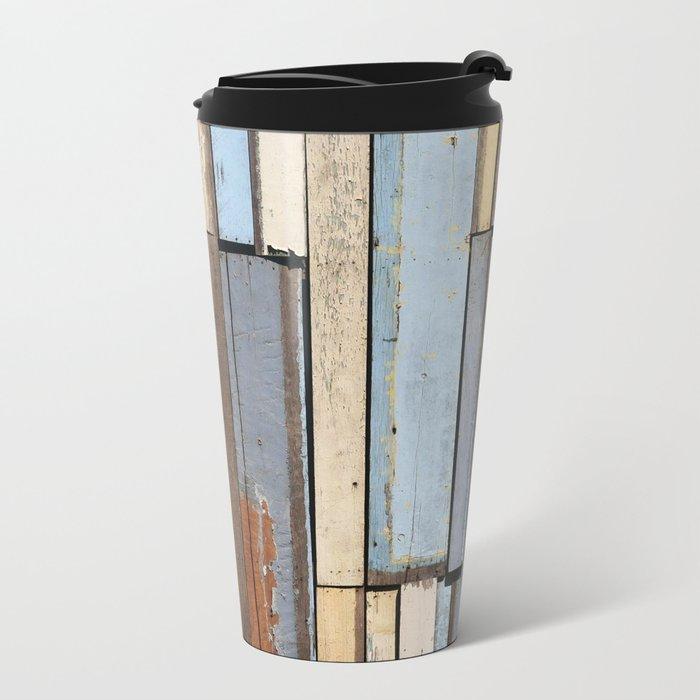 Vintage Wood Metal Travel Mug