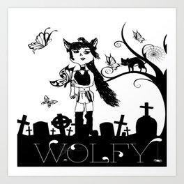 WOLFY BY LYDIA Art Print