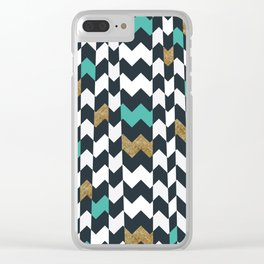 Chevron Pieces Clear iPhone Case
