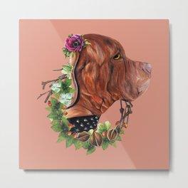 Flower puppy Metal Print