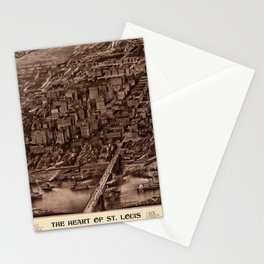 St. Louis 1907 Sepia Stationery Cards