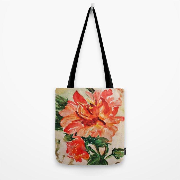 red rose japanese art Tote Bag