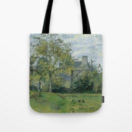 """Camille Pissarro """"La Maison de Piette À Montfoucault""""(""""The Piette House In Montfoucault"""") Tote Bag"""