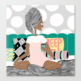 Bed Canvas Print