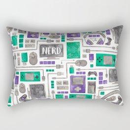 Nerdy Gamer Pattern Rectangular Pillow