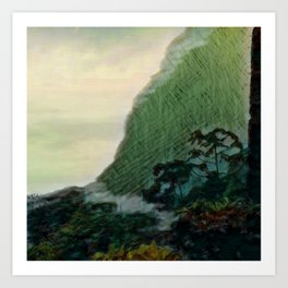 Mists In The Pitons: St. Lucia Art Print