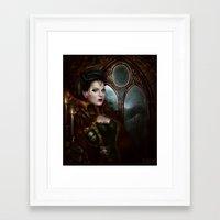 regina mills Framed Art Prints featuring regina by krayis