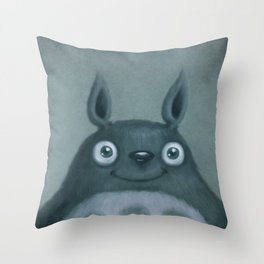 The Silver Fluffhugger Throw Pillow