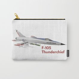 F-105 Thunderchief Military Airplane Carry-All Pouch