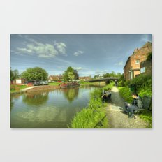 Hungerford Wharf Fishing Canvas Print