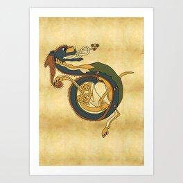 Celtic Afanc Art Print