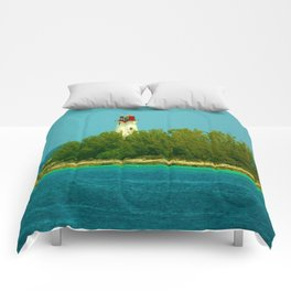Lighthouse by the Ocean Comforters