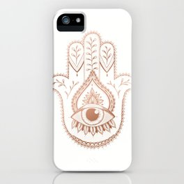 Hamsa Hand - Rosé Gold iPhone Case