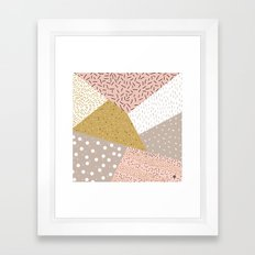 Abstract geometric shapes Framed Art Print