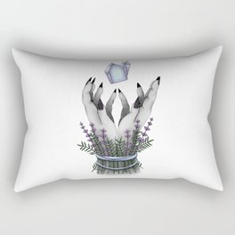 crystal hands colored Rectangular Pillow