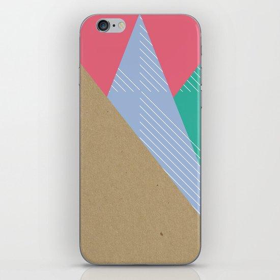 Cardboard & Combo Stripes iPhone & iPod Skin
