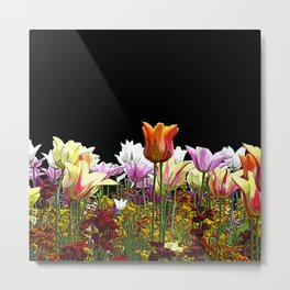 Tulips (black background) Metal Print