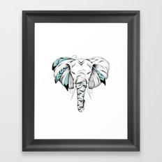 Poetic Elephant Framed Art Print