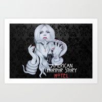 ahs Art Prints featuring AHS: Hotel  by Diego Guzman