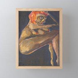 Yellow Nude Framed Mini Art Print