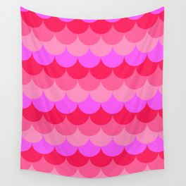 Scalloped Confetti in Neon Coral Reef Wall Tapestry