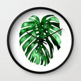 Monstera (green) Wall Clock