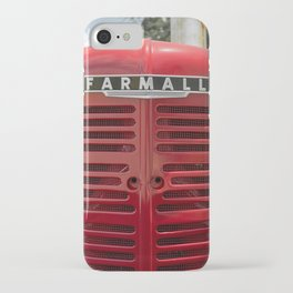 Vintage Farmall M Grill Antique Red Tractor iPhone Case
