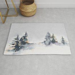 Watercolor Pine Rug
