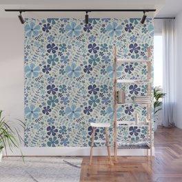 My Little Garden blue & green Wall Mural