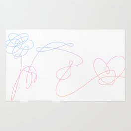 BTS Love Yourself Complete Flower Rug