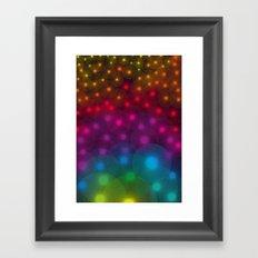 SF Dandelion Rainbow Framed Art Print