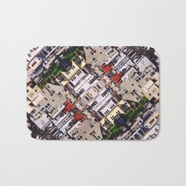 Scene of City Structures Bath Mat