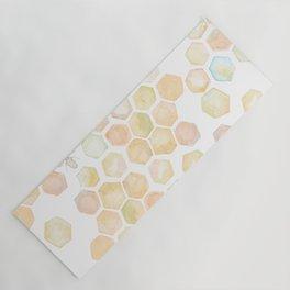 Bee and honeycomb watercolor Yoga Mat