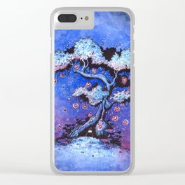 Ninja and the tree of lights Clear iPhone Case