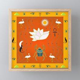 Egyptian Design - Salmon Gold Framed Mini Art Print