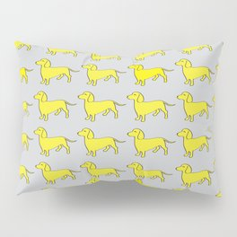 Doxie Love - Grey and Yellow Pillow Sham
