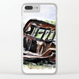Wrecked And Rusting Clear iPhone Case