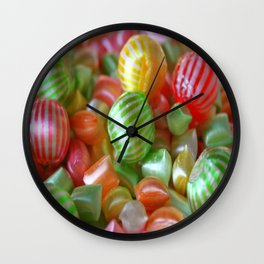 Multi-Colored Striped Candy Wall Clock