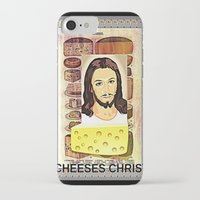 christ iPhone & iPod Cases featuring CHEESES CHRIST by Kathead Tarot/David Rivera