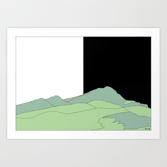 NATURE basque country Art Print