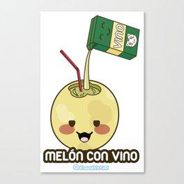Melón con Vino Canvas Print