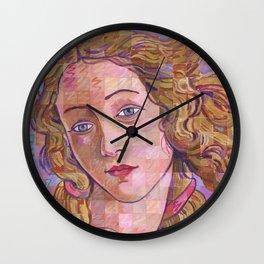 Variations On Botticelli's Venus – No. 4 (Iridescence) Wall Clock