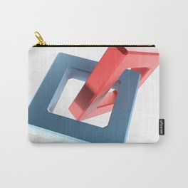 Abstract chain on white background - 3D rendering Carry-All Pouch