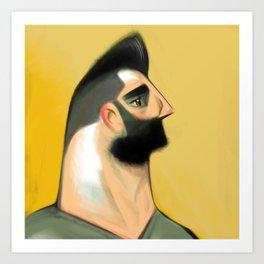 Proud Profile Art Print