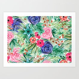 Watercolor Floral Bouquet No. 2 Art Print