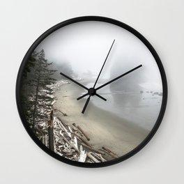 Misty beach Wall Clock