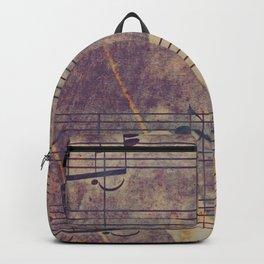 Music, vintage look Backpack