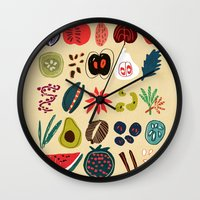 spice Wall Clocks featuring Fruit and Spice Rack by Picomodi