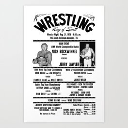 #3 Memphis Wrestling Window Card Art Print