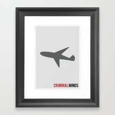 Criminal Minds - Minimalist Framed Art Print